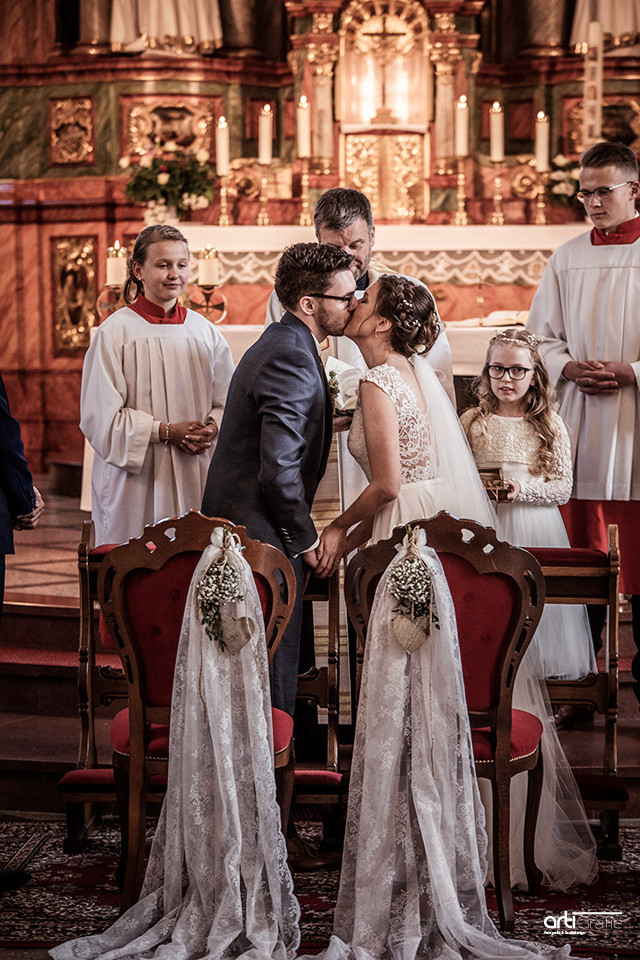 Der erste Kuss-Hochzeitsfotografie-Eichsfeld